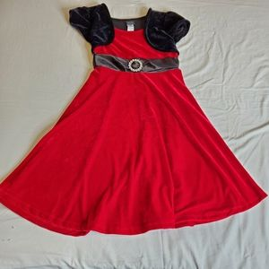 Holiday Editions Red and Black Velvet Dress sz XL